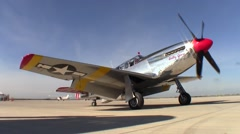 P-51 Mustang Collings Foundation Betty Jane Engine Start Stock Footage