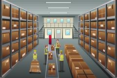 Distribution warehouse Stock Illustration