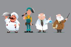 Chef builder chemist teacher Piirros