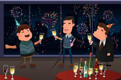 Stock Illustration of New Year Eve party indoor