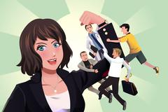 Stock Illustration of Girl power