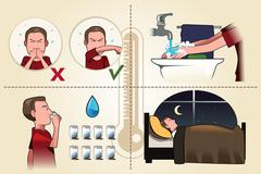 Flu pamphlet Stock Illustration