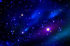 Stars and galaxy space sky night background. - stock illustration