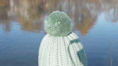 Children's winter Hat Stock Footage
