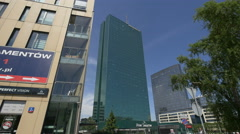 View of Intraco Skyscraper and North Gate office building in Warsaw Stock Footage