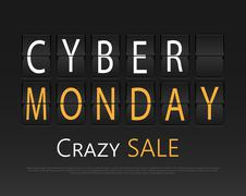 Cyber monday, mechanical panel letters Piirros