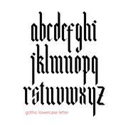 Blackletter modern gothic font - stock illustration