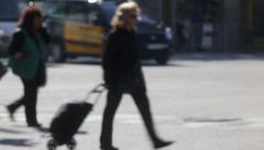 Unfocused pedestrians - stock footage