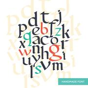 Vector hand drawn medieval alphabet. Old manuscript style letters. Based on Stock Illustration