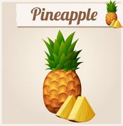 Pineapple. Detailed Vector Icon - stock illustration