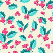 Mistletoe seamless pattern - stock illustration
