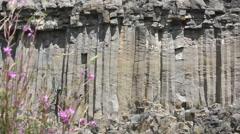 Basalt shapes of rocks Stock Footage