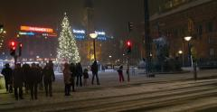 Copenhagen City Hall (Kobenhavns Radhus) Christmas Tree Stock Footage
