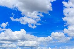 clouds on the blue sky - stock photo