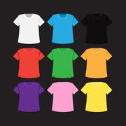 T-shirt template and mockup Stock Illustration