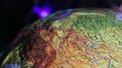 Globe, Himalayas, magnifier Stock Footage