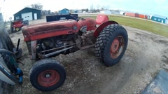 Antique Tractor Stock Footage