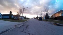 Suburban Residential Street in Quiet Neighborhood Stock Footage
