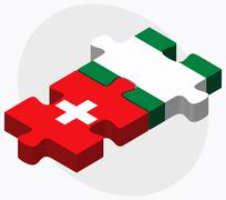 Switzerland and Nigeria Flags Stock Illustration