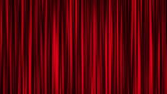 Red curtain animation Stock Footage