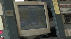 Dispatch monitor screen - stock footage