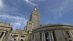 Sala Kongresowa, part of the Palace of Culture and Science in Warsaw Stock Footage