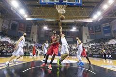 Greek Basket League game Paok vs Olympiakos - stock photo