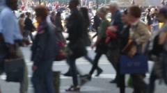 Unfocused pedestrians. Slow Motion - stock footage