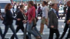 Unfocused pedestrians. - stock footage