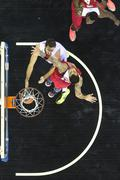 Greek Basket League game Paok vs Olympiakos Stock Photos