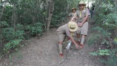 Hiking events, Scout Camp in primary school Bangkok Thailand - stock footage