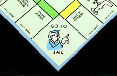 Monopoly Board Game Go to Jail Square - stock photo