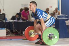 Greek Weightlifting Championship - stock photo