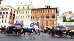 Piazza di Spagna Stock Footage