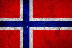Grunge texture flag of Norway country - stock photo