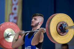 Greek Weightlifting Championship Stock Photos