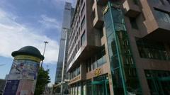 Centrum Bankowo-Biurowe Kaskada in Warsaw Stock Footage