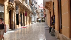 Streets of Malaga, Spain Stock Footage