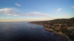 4K AERIAL: California Coastline, San Diego - stock footage