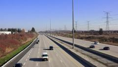 Westbound Traffic on Expressway - stock footage