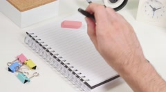 4K Blank Page Syndrome No Ideas To Write - stock footage