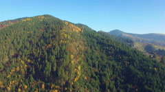 Aerial view of autumn colors Carpathians. Stock Footage