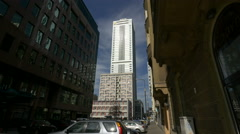 InterContinental Hotel seen from Sienna street in Warsaw - stock footage
