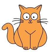Vector illustration of ginger cat Stock Illustration