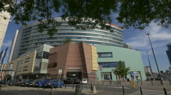 View of Golden Terraces Shopping Mall in Warsaw Stock Footage