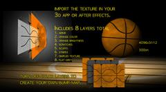 Basketball Texture PSD Template