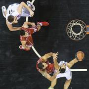 Greek Basket League game Paok vs Kifisia - stock photo