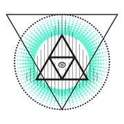 Stock Illustration of Sacred geometry abstract alchemy symbols