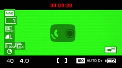 Camera Recording - Green Screen - Graphics - White 01 Stock Footage