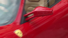 Red Ferrari F430 slap zoom out Stock Footage